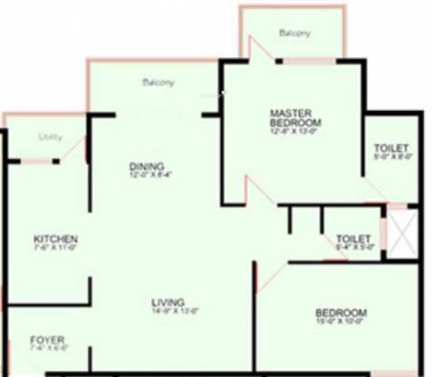 Manar Elegance (2BHK+2T (1,336 sq ft) Apartment 1336 sq ft)