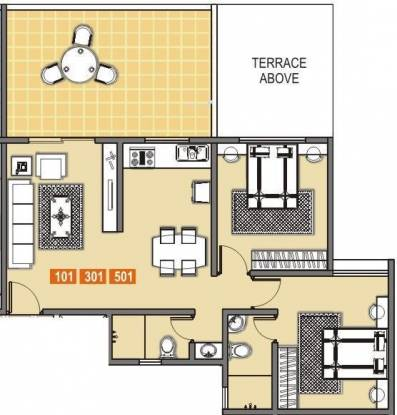 Shree Kalyaanee Krrsna Builders Solitaire (2BHK+2T (905 sq ft) Apartment 905 sq ft)