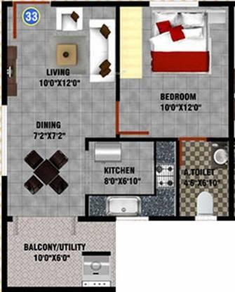 DS DSMAX SHERWOOD (1BHK+1T (633 sq ft) Apartment 633 sq ft)