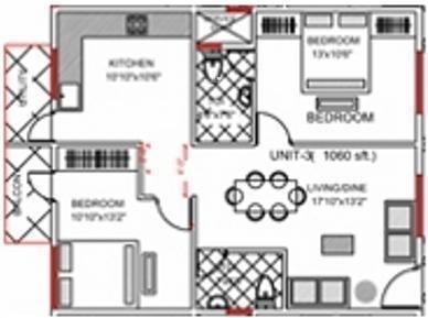 Sanjana Sahara (2BHK+2T (1,000 sq ft) Apartment 1000 sq ft)