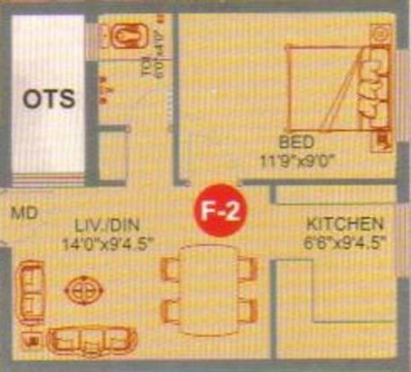 Hi Astraa Garden (1BHK+1T (458 sq ft) Apartment 458 sq ft)