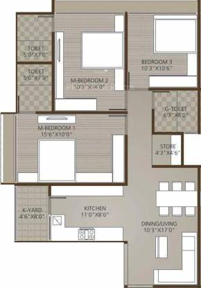 Maruti Renesa (3BHK+3T (1,760 sq ft) Apartment 1760 sq ft)