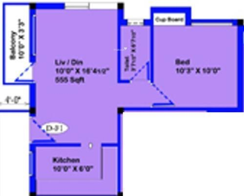 ARRR Ponniamman New (1BHK+1T (650 sq ft) Apartment 650 sq ft)