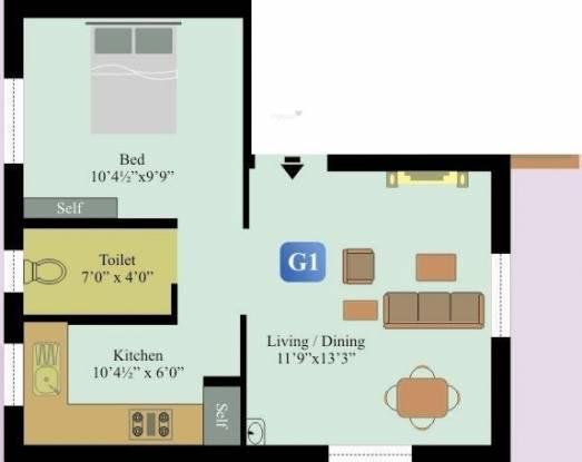 Anandam foundations sapphire in medavakkam chennai 525 sq ft apartment