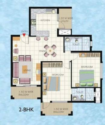 Umiya Solicitude (2BHK+2T (1,184 sq ft) Apartment 1184 sq ft)