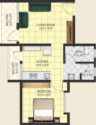 Ashtvinayak Aarambh (1BHK+1T (581 sq ft) Apartment 581 sq ft)