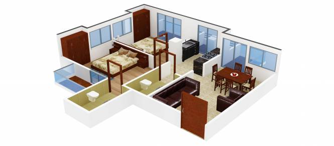 Imperial Alassio Ressidency (2BHK+2T (906 sq ft) Apartment 906 sq ft)