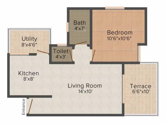 Agarwal Sai Sanskruti (1BHK+1T (630 sq ft) Apartment 630 sq ft)