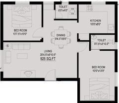 Vin Vin Orient (2BHK+2T (925 sq ft) Apartment 925 sq ft)