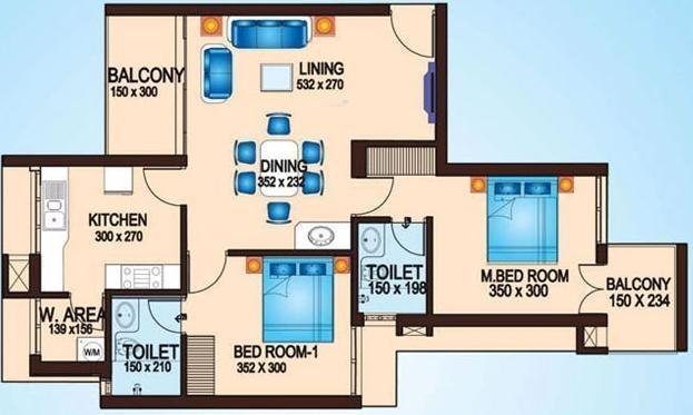 Artech Lake Gardens (2BHK+2T (1,120 sq ft) Apartment 1120 sq ft)