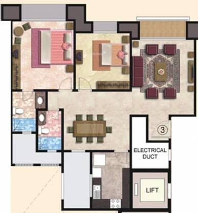 Hiranandani Seawood (2BHK+2T (1,295 sq ft) Apartment 1295 sq ft)