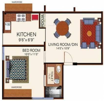 Arihant Maruthi Nandan (1BHK+1T (549 sq ft) Apartment 549 sq ft)