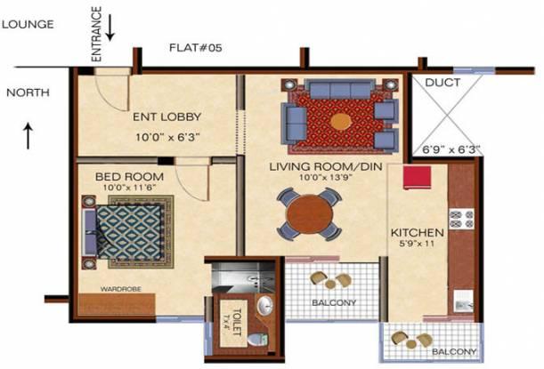 Arihant Maruthi Nandan (1BHK+1T (567 sq ft) Apartment 567 sq ft)