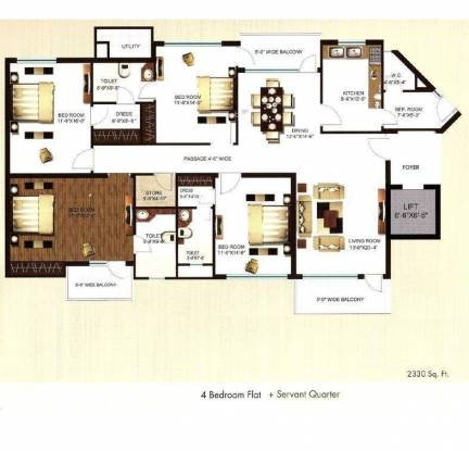 Shalimar Imperial (4BHK+4T (2,330 sq ft) Apartment 2330 sq ft)