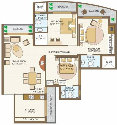 MVL Coral (3BHK+3T (1,765 sq ft) Apartment 1765 sq ft)