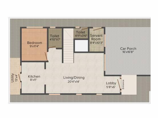Radiant Silver Oak (3BHK+4T (2,564 sq ft) + Study Room Villa 2564 sq ft)