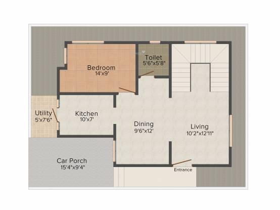 Radiant Silver Oak (3BHK+3T (2,143 sq ft) + Study Room Villa 2143 sq ft)