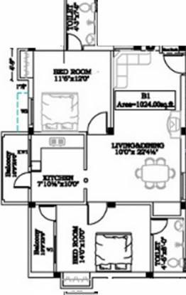 Chozha Arul Vel (2BHK+2T (1,024 sq ft) Apartment 1024 sq ft)