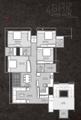 Setu Copper Stone (4BHK+4T (2,799 sq ft)   Pooja Room Apartment 2799 sq ft)