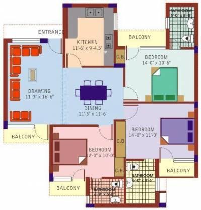 Mittals Rishi Apartments (3BHK+3T (1,550 sq ft) Apartment 1550 sq ft)