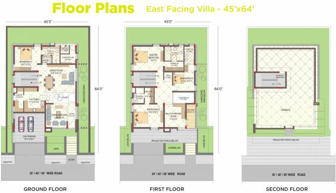 Ramky Tranquillas (4BHK+4T (3,403 sq ft) + Servant Room Villa 3403 sq ft)