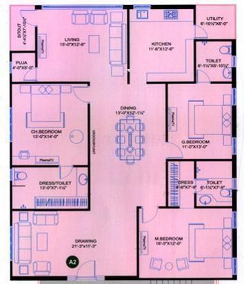 Srinilaya Adi Hills (3BHK+3T (2,322 sq ft) Apartment 2322 sq ft)