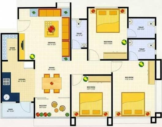 Devnandan Devnandan Desire (3BHK+3T (1,670 sq ft) Apartment 1670 sq ft)