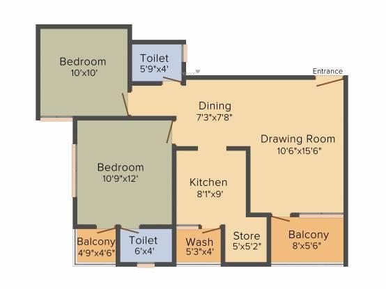 Devnandan Devnandan Residency (2BHK+2T (990 sq ft) Apartment 990 sq ft)