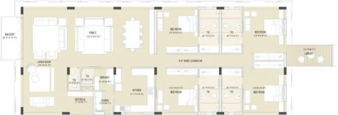 Olive Grace Olive Grace (4BHK+4T + Servant Room)