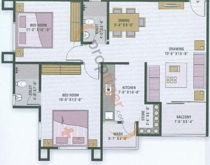 Devnandan Homes (2BHK+2T (1,172 sq ft) Apartment 1172 sq ft)