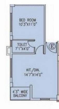 Srijan Midlands (1BHK+1T (548 sq ft) Apartment 548 sq ft)