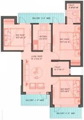 Ferrous Beverly Homes (3BHK+2T (1,096 sq ft) Apartment 1096 sq ft)