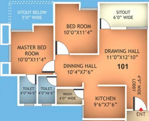 Fakhri Harmony Residency (2BHK+2T (915 sq ft) Apartment 915 sq ft)