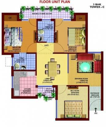 SRS SRS Pearl (3BHK+2T (1,100 sq ft) Apartment 1100 sq ft)