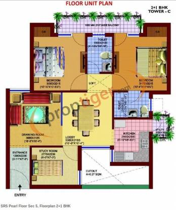 SRS SRS Pearl (2BHK+2T (940 sq ft) Apartment 940 sq ft)