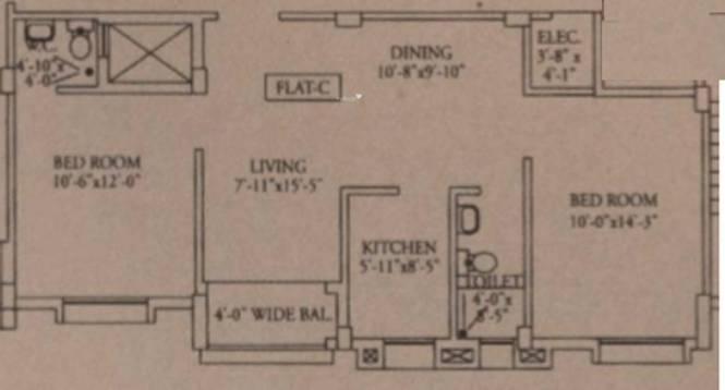 Pasari Roopkatha (2BHK+2T (918 sq ft) Apartment 918 sq ft)