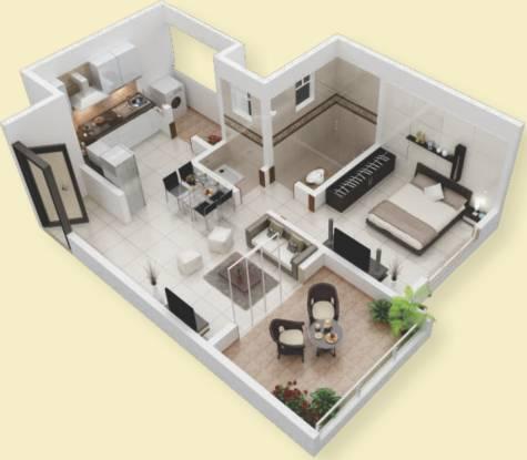 Krishna Aeropolis (1BHK+1T (605 sq ft) Apartment 605 sq ft)