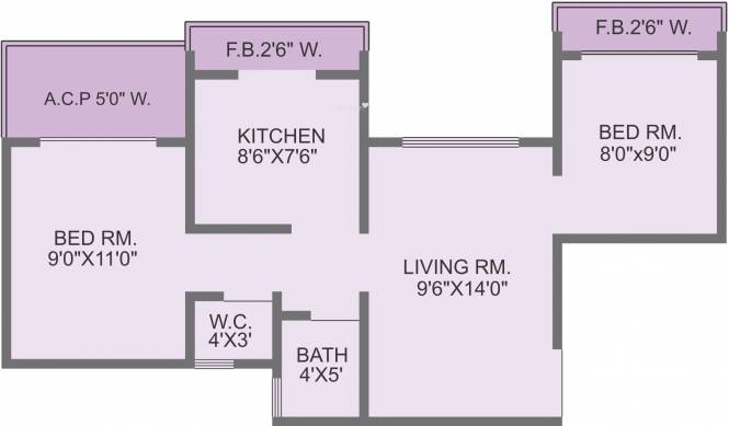 Panvelkar Estate (2BHK+1T (900 sq ft) Apartment 900 sq ft)