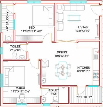 Green City Homes (2BHK+2T (1,200 sq ft) Apartment 1200 sq ft)