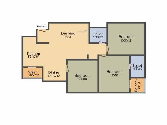 Sambhav Stavan Arise (3BHK+3T (1,350 sq ft) Apartment 1350 sq ft)