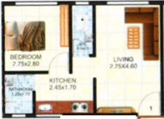 Shree Laxman Residency (1BHK+1T (560 sq ft) Apartment 560 sq ft)
