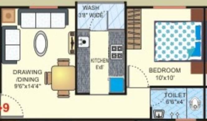 Pearl Galaxy (1BHK+1T (570 sq ft) Apartment 570 sq ft)