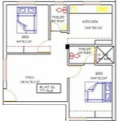 Crest Florentia (2BHK+2T (777 sq ft) Apartment 777 sq ft)