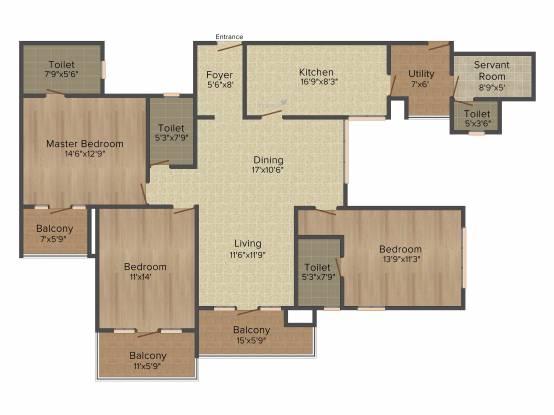 Motwani Fairmont Towers (3BHK+3T (2,200 sq ft) Apartment 2200 sq ft)