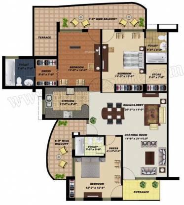 Maya Garden 3 (3BHK+3T (1,797 sq ft) Apartment 1797 sq ft)