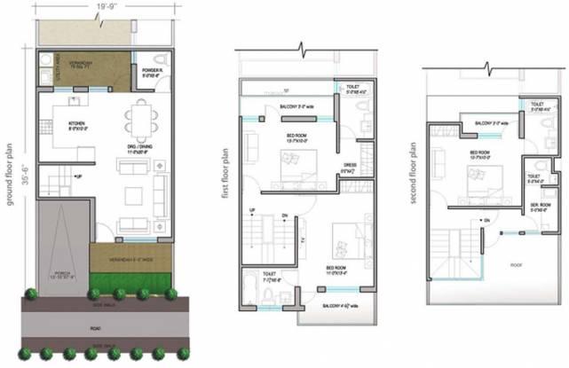 Paramount Golfforeste Villas (3BHK+3T (1,742 sq ft) + Servant Room Villa 1742 sq ft)