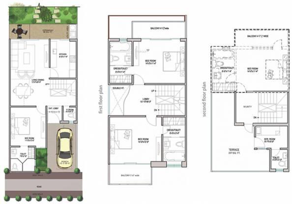 Paramount Golfforeste Villas (3BHK+3T (2,185 sq ft) + Servant Room Villa 2185 sq ft)
