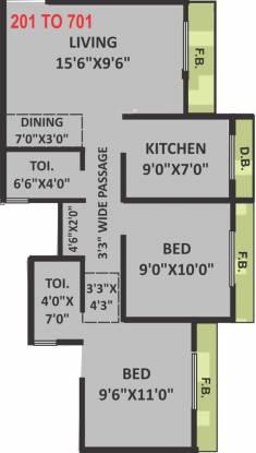 Shree Ganesh Vinayak Enclave (1BHK+2T (600 sq ft)   Study Room Apartment 600 sq ft)