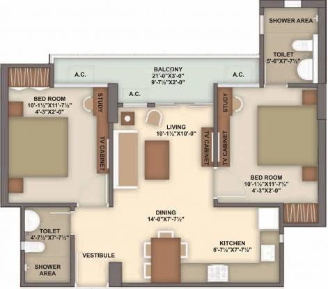 Unique My Haveli (2BHK+2T (923 sq ft) Apartment 923 sq ft)