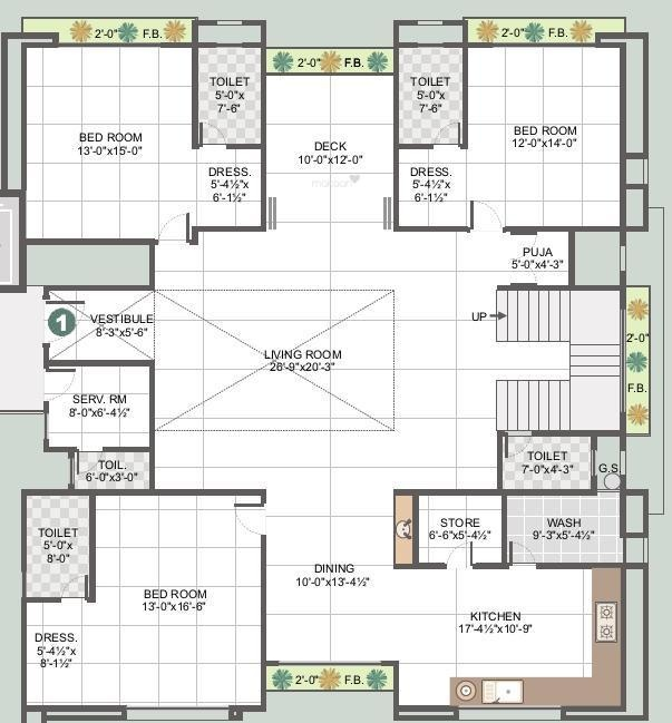 6 Bhk Home Design Part - 18: Makaan.com